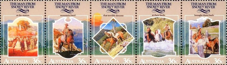 [Australian Folklore - The Man from Snowy River, type ]