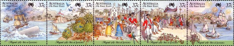 [The 200th Anniversary of the Colonization of Australia - First Fleet in Rio de Janeiro, type ]