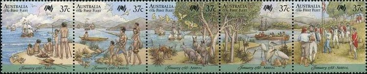 [Ships - The 200th Anniversary of the Colonization of Australia - Arrival of the First Fleet, type ]