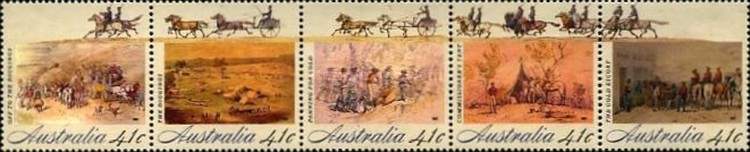 [The 200th Anniversary of the Colonization of Australia - Goldrush, type ]
