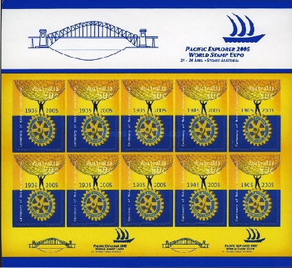[The 100th Anniversary of the Rotary International, type ]