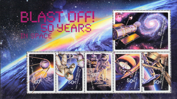 [Blast Off - The 50th Anniversary of Australia in Space, type ]