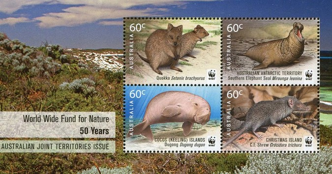 [The 50th Anniversary of the WWF - Australian Joint Territories Issue, type ]