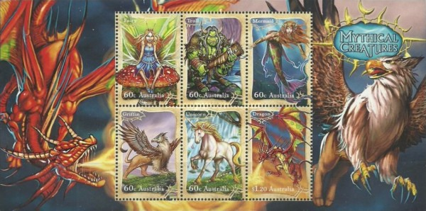 [Stamp Collecting Month - Mythical Creatures, type ]