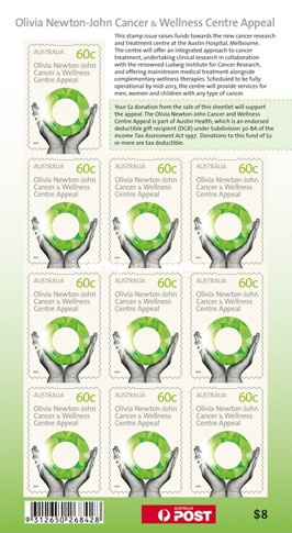 [ONL Cancer & Wellness Centre Appeal - Self Adhesive Stamp, type ]