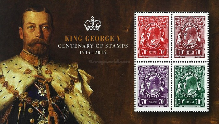[The 100th Anniversary of the King George V Stamps, type ]
