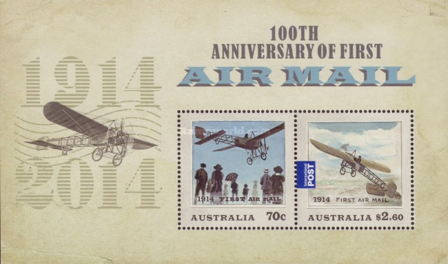 [The 100th Anniversary of the First Airmail, type ]