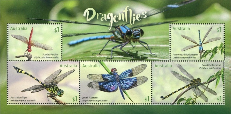 [Stamp Collecting Month - Dragonflies, type ]