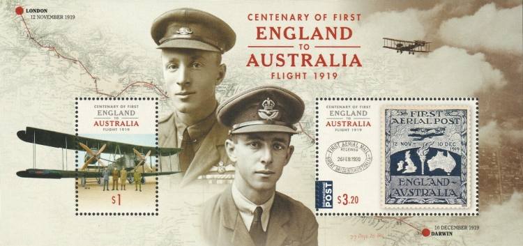 [The 100th Anniversary of the First England to Australia Flight, type ]