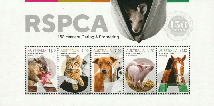 [The 150th Anniversary of the RSPCA - Royal Societies for the Prevention of Cruelty to Animals, type ]
