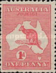 [Definitive Issues - Kangaroo and Map, type A1]