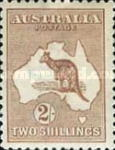 [Definitive Issues - Kangaroo and Map, type A10]