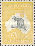 [Definitive Issues - Kangaroo and Map, type A11]