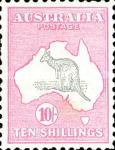 [Definitive Issues - Kangaroo and Map, type A12]