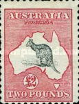 [Definitive Issues - Kangaroo and Map, type A14]