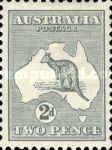 [Definitive Issues - Kangaroo and Map, Different Watermark, type A15]