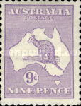 [Definitive Issues - Kangaroo and Map, Different Watermark, type A18]