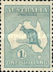 [Definitive Issues - Kangaroo and Map, Different Watermark, type A19]