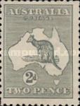 [Definitive Issues - Kangaroo and Map, type A2]