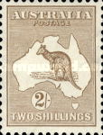 [Definitive Issues - Kangaroo and Map, Different Watermark, type A20]