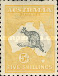 [Definitive Issues - Kangaroo and Map, Different Watermark, type A21]