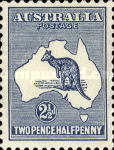 [Definitive Issues - Kangaroo and Map - Different Watermark, type A23]