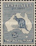 [Definitive Issues - Kangaroo and Map, type A3]
