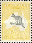 [Definitive Issues - Kangaroo and Map - Different Watermark, type A30]