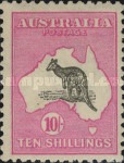 [Definitive Issues - Kangaroo and Map - Different Watermark, type A31]
