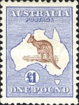 [Definitive Issues - Kangaroo and Map - Different Watermark, type A32]