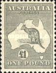 [Definitive Issues - Kangaroo and Map - Different Watermark, type A33]