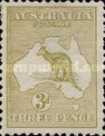 [Definitive Issues - Kangaroo and Map, type A4]