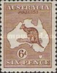 [Definitive Issues - Kangaroo and Map, Different Watermark, type A42]