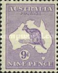 [Definitive Issues - Kangaroo and Map, Different Watermark, type A43]