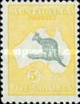 [Definitive Issues - Kangaroo and Map, Different Watermark, type A45]