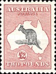 [Definitive Issues - Kangaroo and Map, Different Watermark, type A48]
