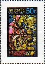 [Christmas -  Stained Glass Windows from Australian Churches, type ACI]