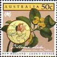[The 200th Anniversary of the Colonization of Australia - New Holland - Cook`s Voyage, type AEQ]