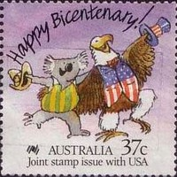 [The 200th Anniversary of the Colonization of Australia - Joint stamp issue with USA, type AJC]