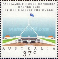 [Parliament House Canberra Opened 1988 by Her Majesty The Queen, type AKK]