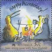 [The 200th Anniversary of the Colonization of Australia - Joint stamp issue with New Zealand, type AKP]