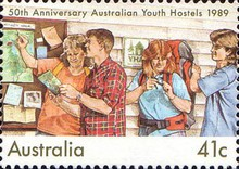 [The 50th Anniversary of the Australian Youth Hostels, type AMO]