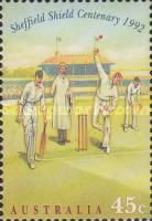 [The 100th Anniversary of Sheffield Shield Cricket Games, 1892-1992, type ASE]
