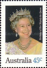 [The 69th Anniversary of the Birth of Queen Elizabeth II, type AWP]