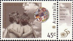 [The 50th Anniversary of the United Nations Organization, type AWU]
