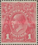 [King George V - Different Watermark, type B18]