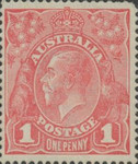 [King George V - Different Watermark, type B19]