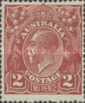 [King George V - New Colors, type B24]