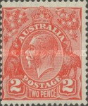 [King George V - New Watermark, type B44]
