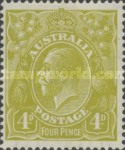 [King George V - New Watermark, type B46]